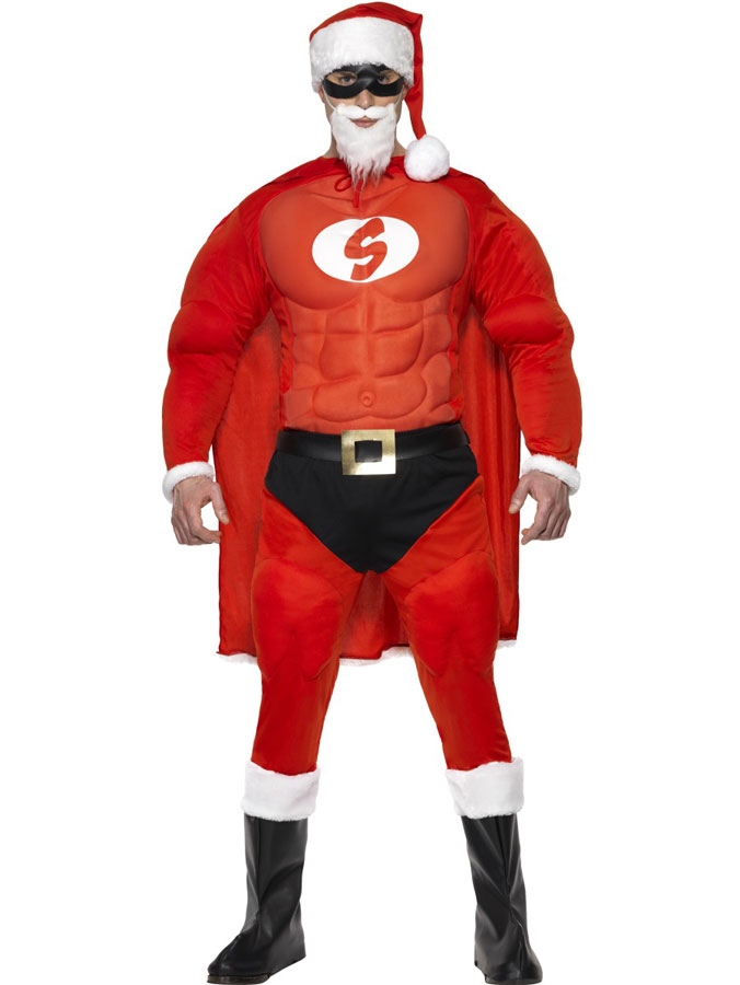 Tomtedräkt Super Santa (Medium)