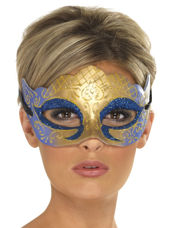 Venetiansk Guldmask med Glitter
