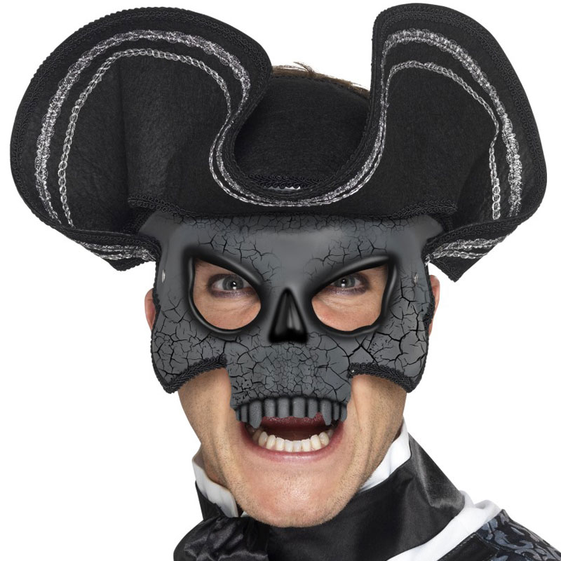 Venetiansk Ögonmask Dödskalle med Hatt