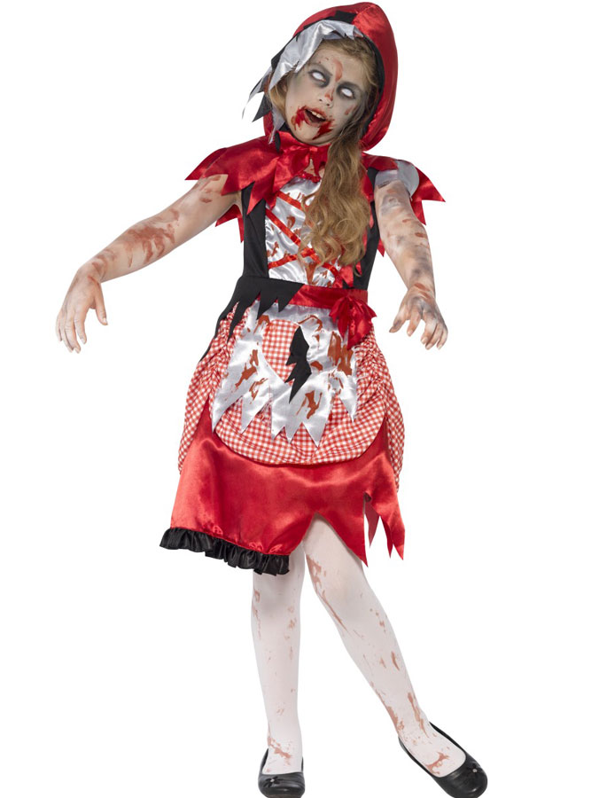 Zombie Rödluvan Dräkt Barn (Small)