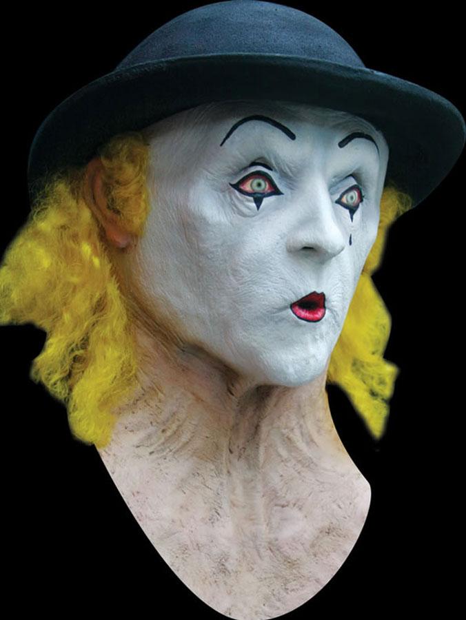 Clown Mask Deluxe med Hatt