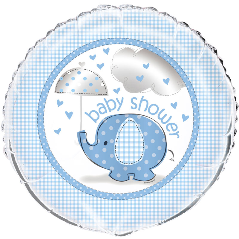 Baby Shower Boy Folieballong Umbrellaphant