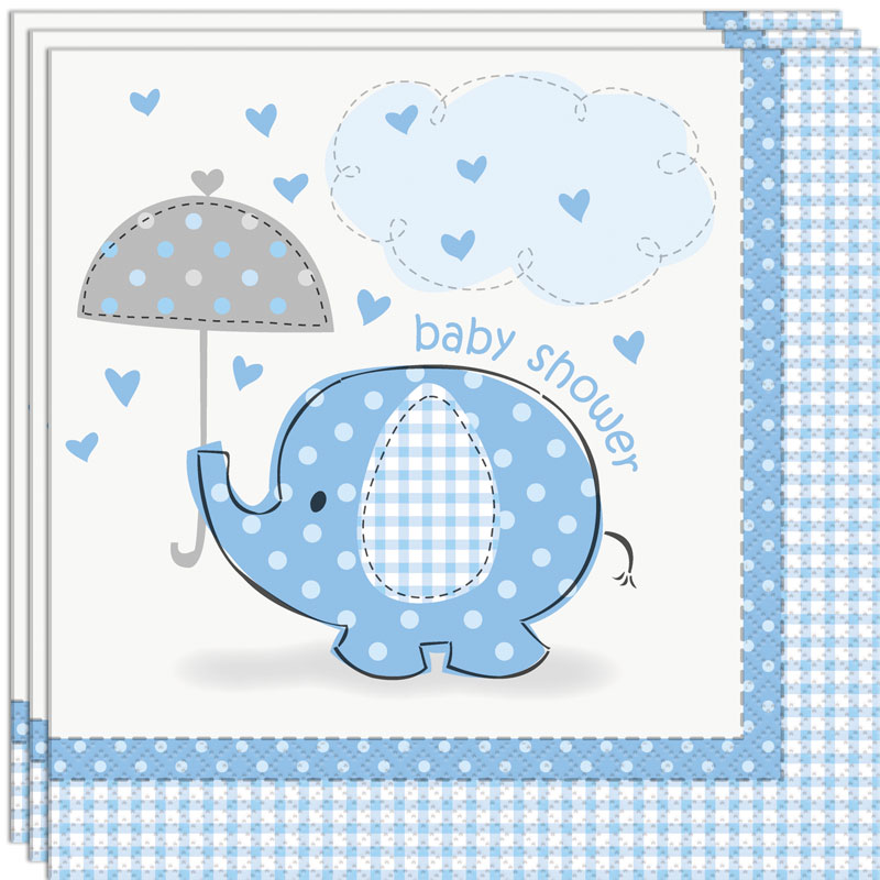 Baby Shower Boy Servetter Umbrellaphant