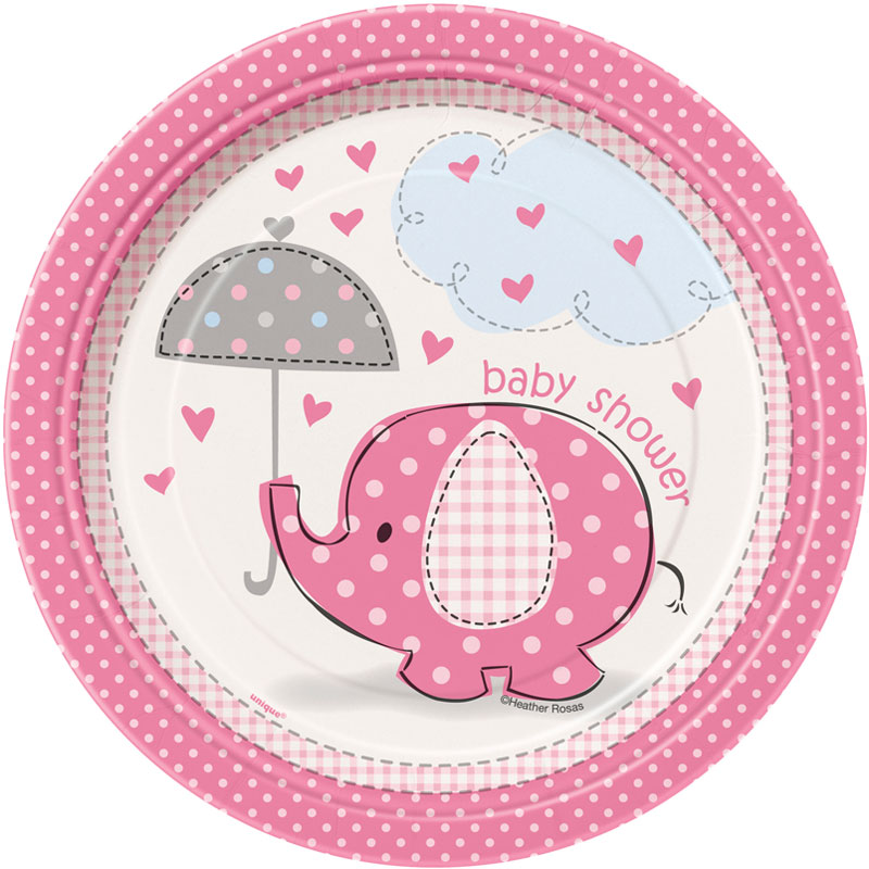 Baby Shower Girl Assietter Umbrellaphant