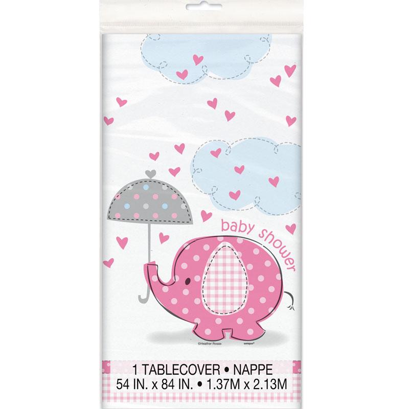 Baby Shower Girl Bordsduk Umbrellaphant
