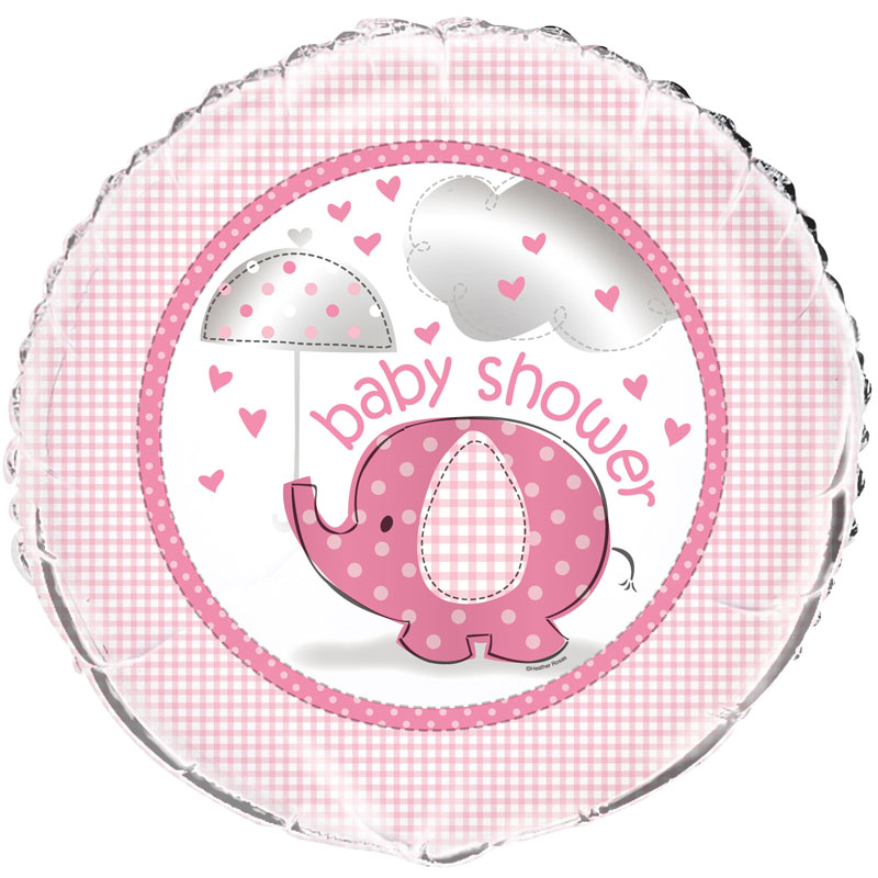 Baby Shower Girl Folieballong Umbrellaphant