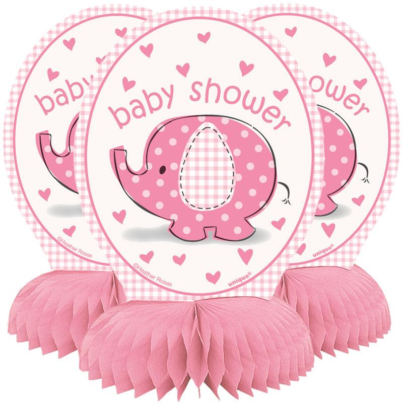 Baby Shower Girl Honeycomb Dekorationer Umbrellaphant