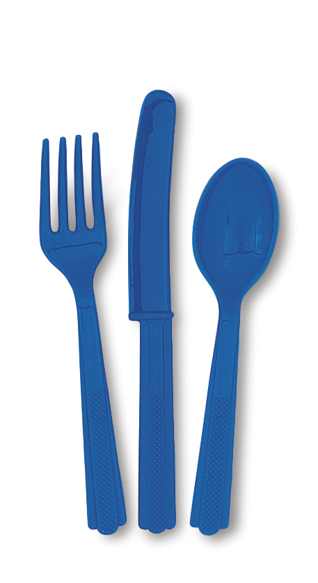 Blåa Plastbestick