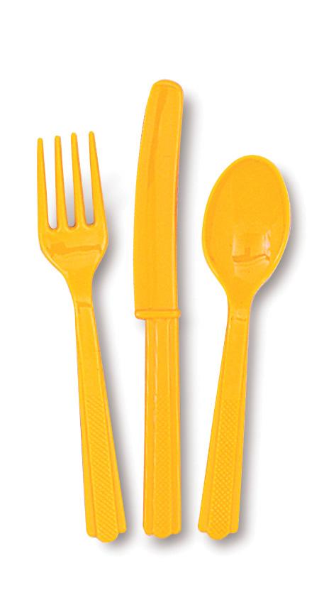 Gul/Orange Plastbestick