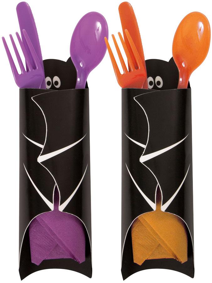 Halloween Bordsdekoration Godis- och Bestickhållare