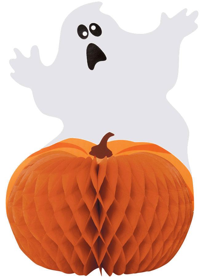 Halloween Bordsdekoration Spöke med Pumpa