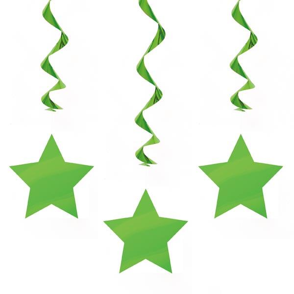 Hängande Dekorationer Gröna Stjärnor