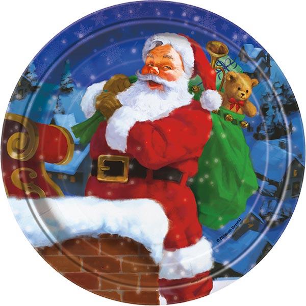 Holiday Santa Papptallrikar