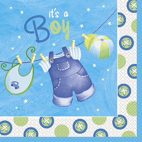 It's a Boy Baby Shower Servetter