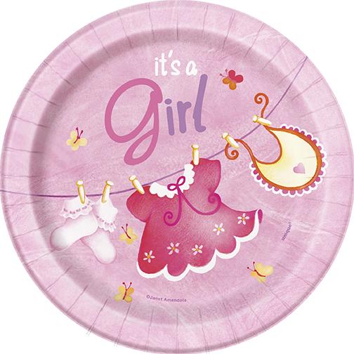 It's a Girl Baby Shower Assietter