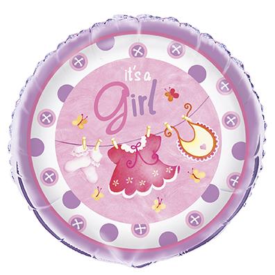 It's a Girl Baby Shower Folieballong