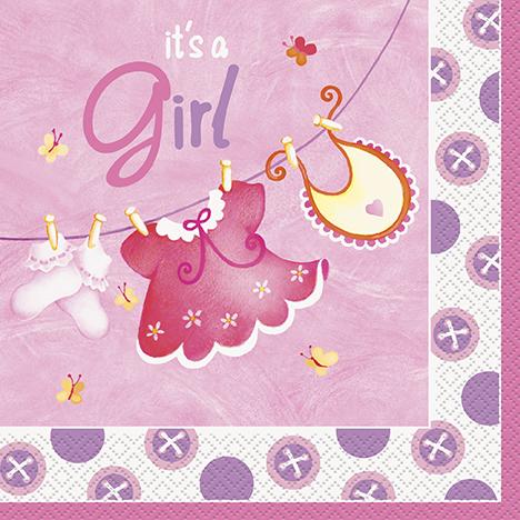 It's a Girl Baby Shower Servetter