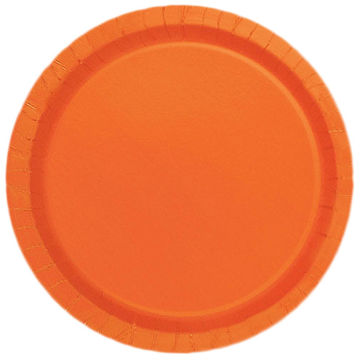 Orange Papptallrikar