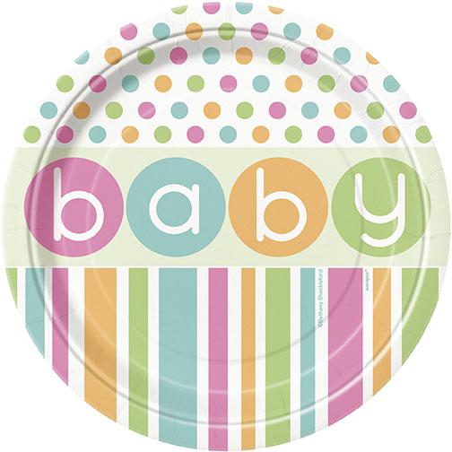 Pastell Baby Shower Assietter