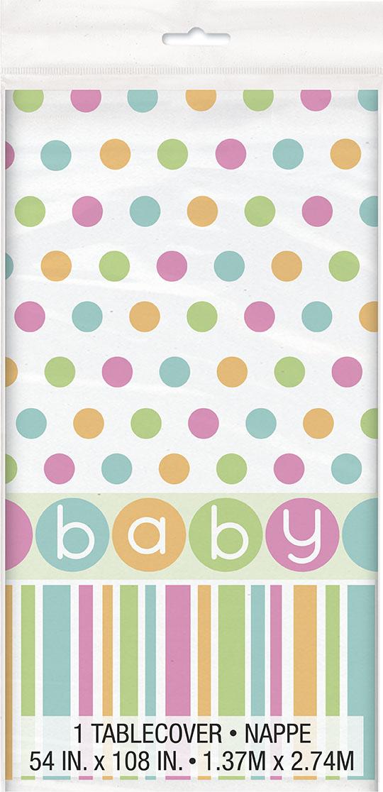 Pastell Baby Shower Bordsduk