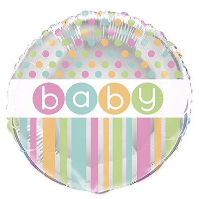 Pastell Baby Shower Folieballong