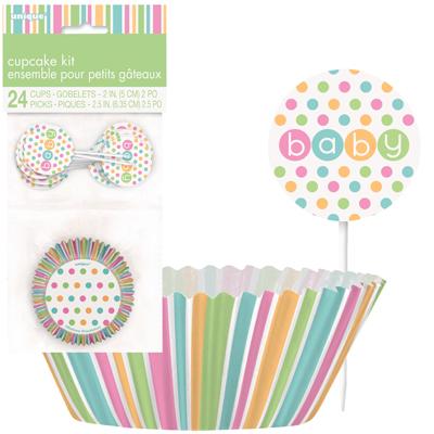 Pastell Baby Shower Muffinsformar