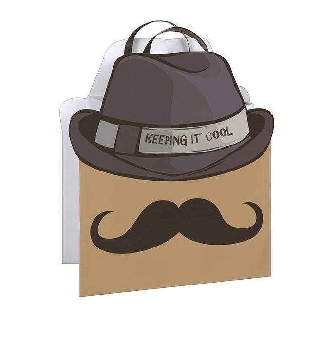 Presentpåse Cool Mustache