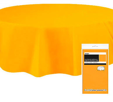 Rund Bordsduk i Plast Gul/Orange