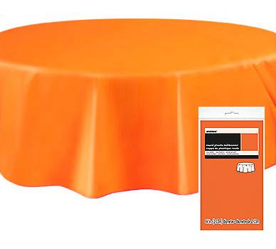 Rund Bordsduk i Plast Orange