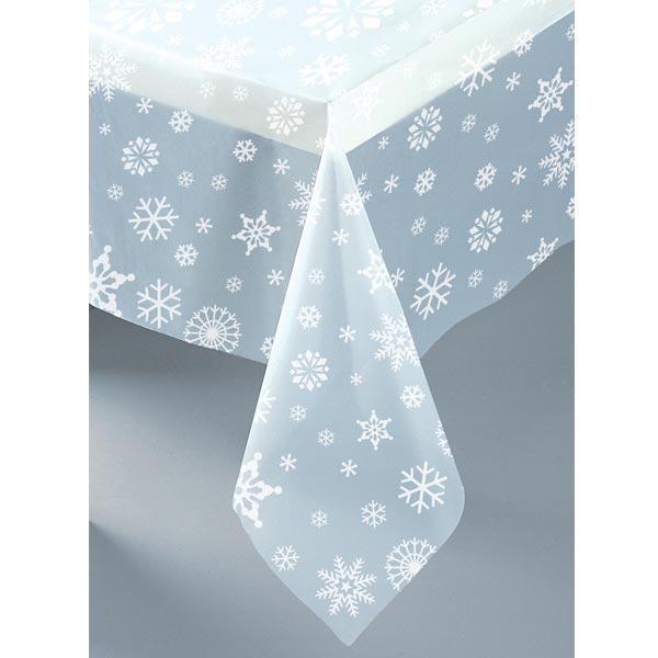 Snöflingor Transparent Bordsduk