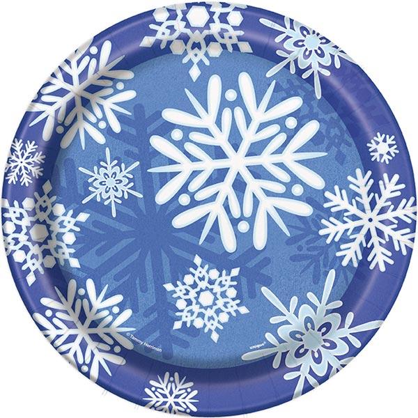 Winter Snowflake Papptallrikar