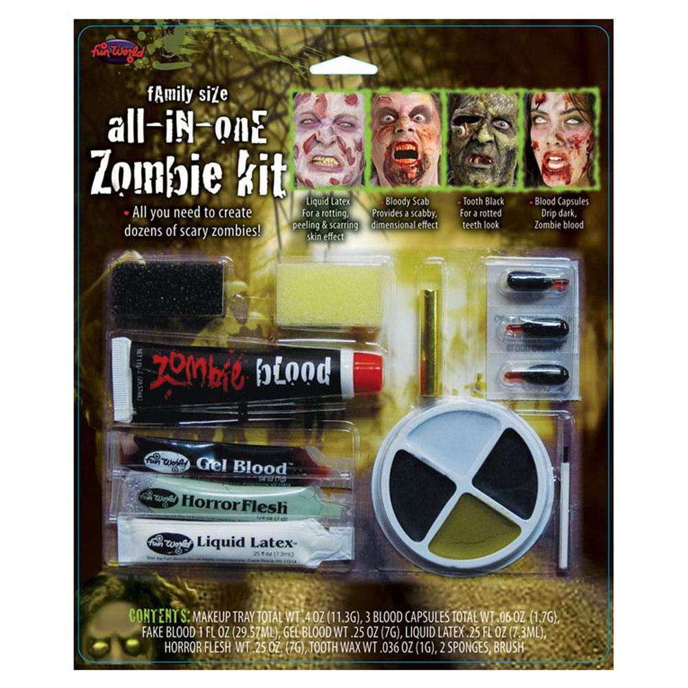 Allt i Ett Zombie Smink Kit