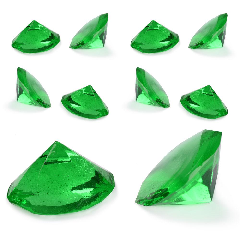 Ätbara Gelatin Diamanter Gröna