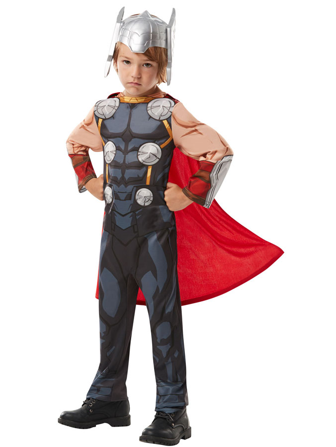 Avengers Thor Dräkt med Hjälm Barn (Small (3-4 år))
