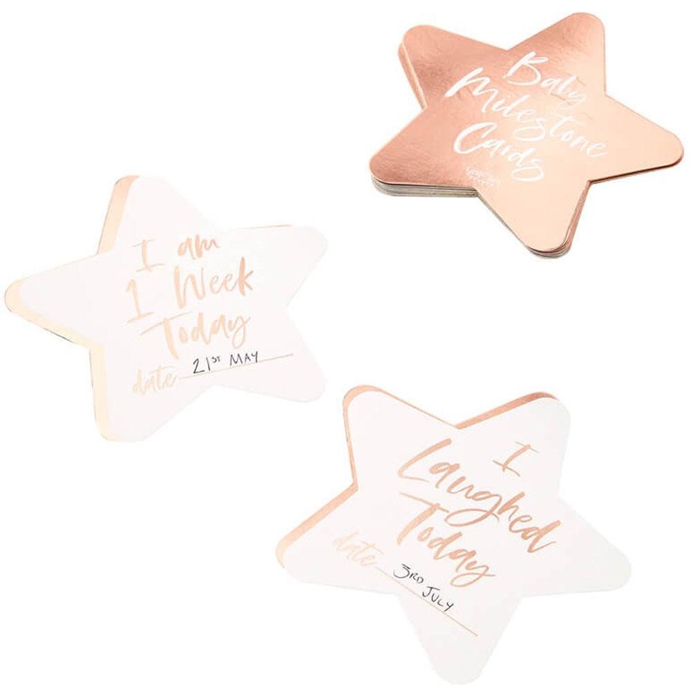 Baby Milestones Cards Roséguld