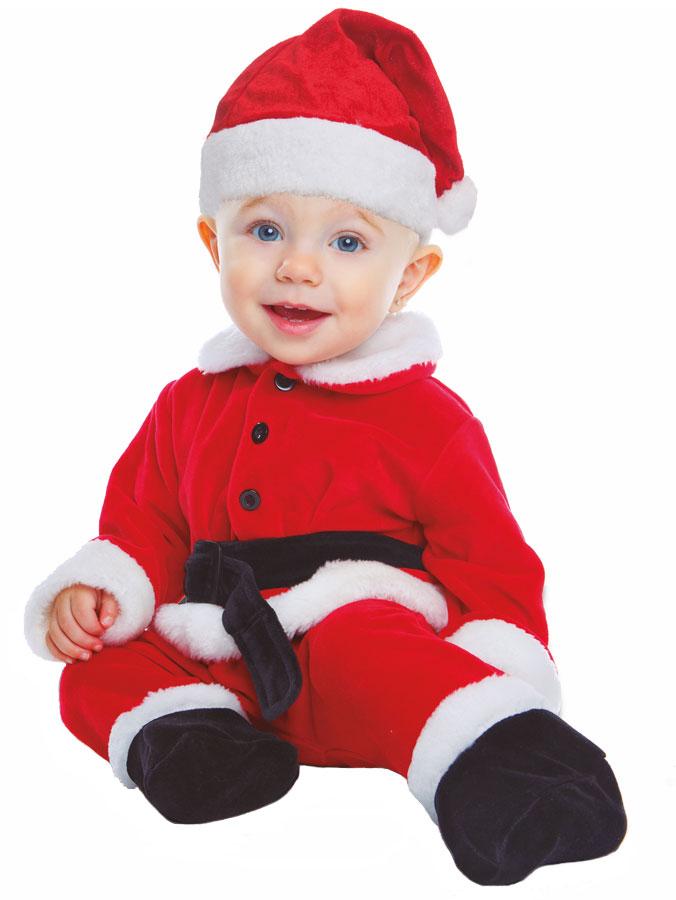 Baby Santa Maskeraddräkt Barn (Small (0-6 månader))