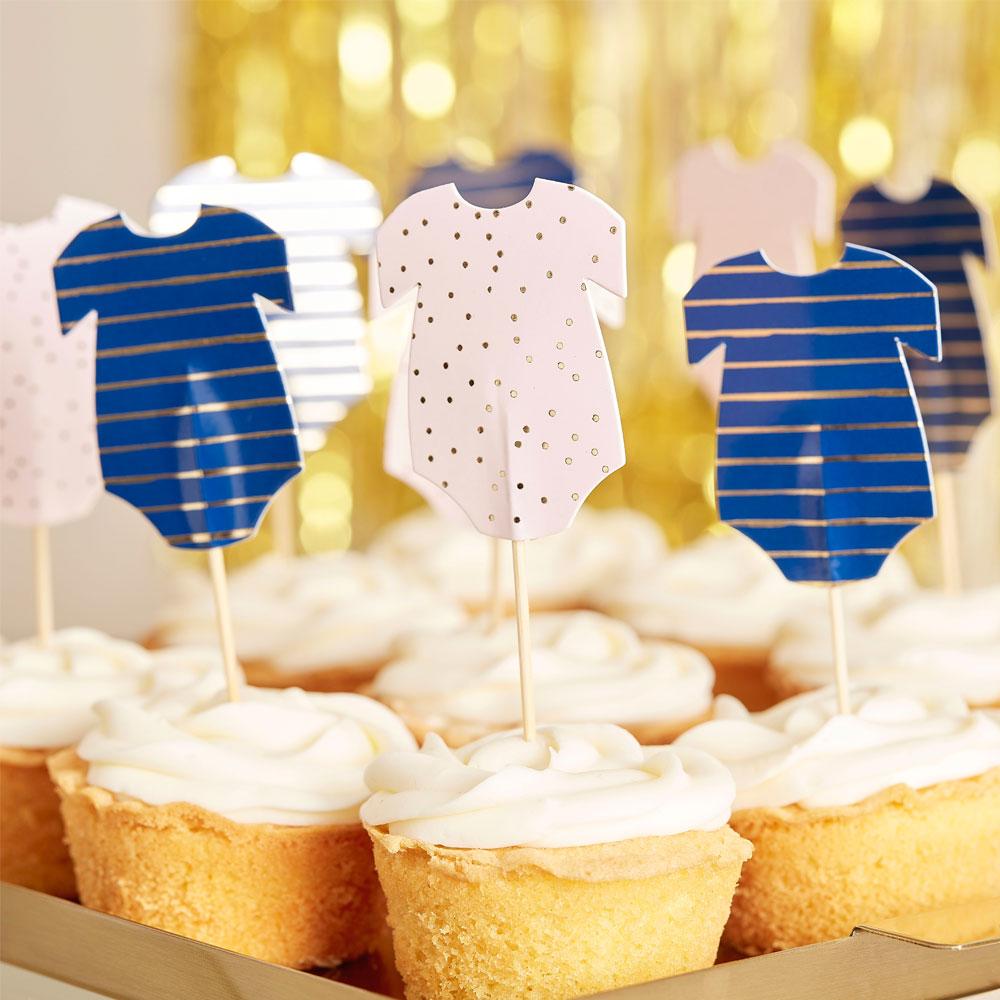 Baby Shower Cupcake Dekoration