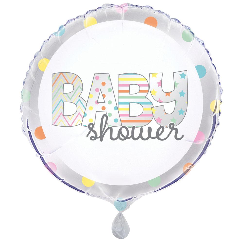 Baby Shower Folieballong Rund