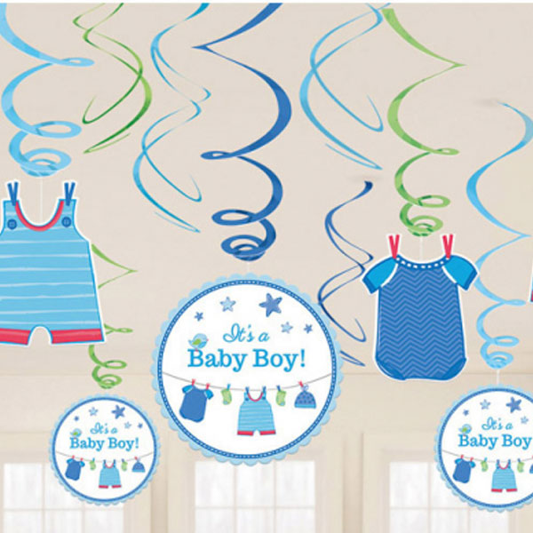 Baby Shower Its a Baby Boy Hängande Dekorationer