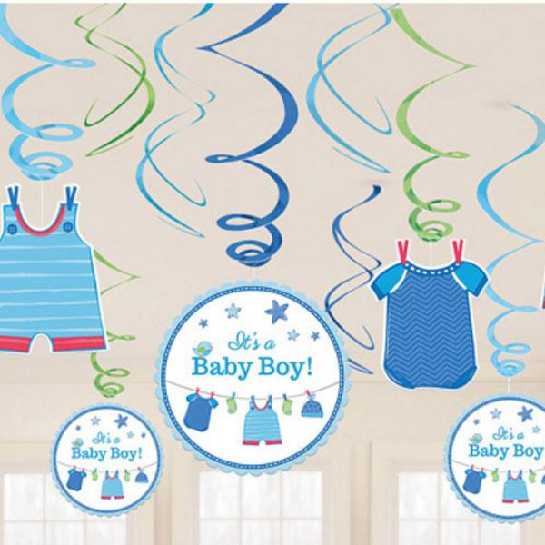 Baby Shower Its a Baby Boy Hängande Dekorationer