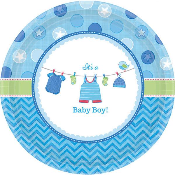 Baby Shower Its a Baby Boy Tallrikar XL