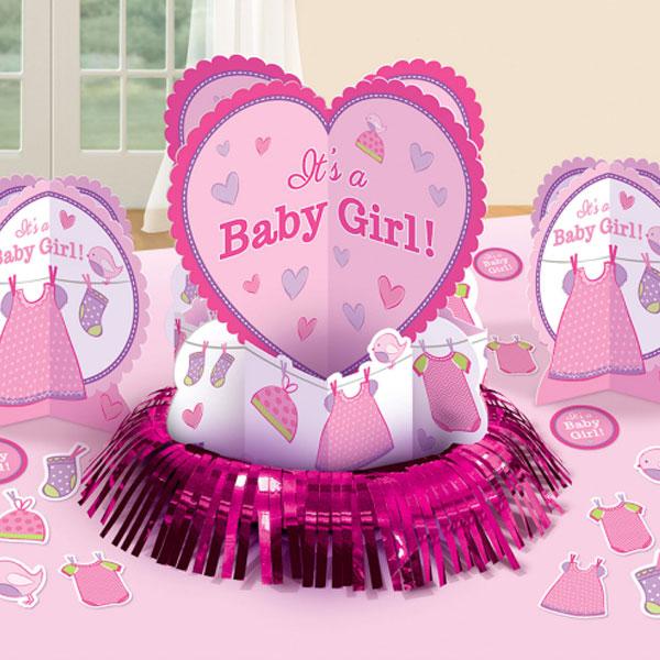 Baby Shower It's a Baby Girl Bordsdekorationer
