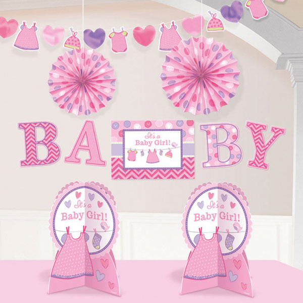 Baby Shower It's a Baby Girl Dekorationer