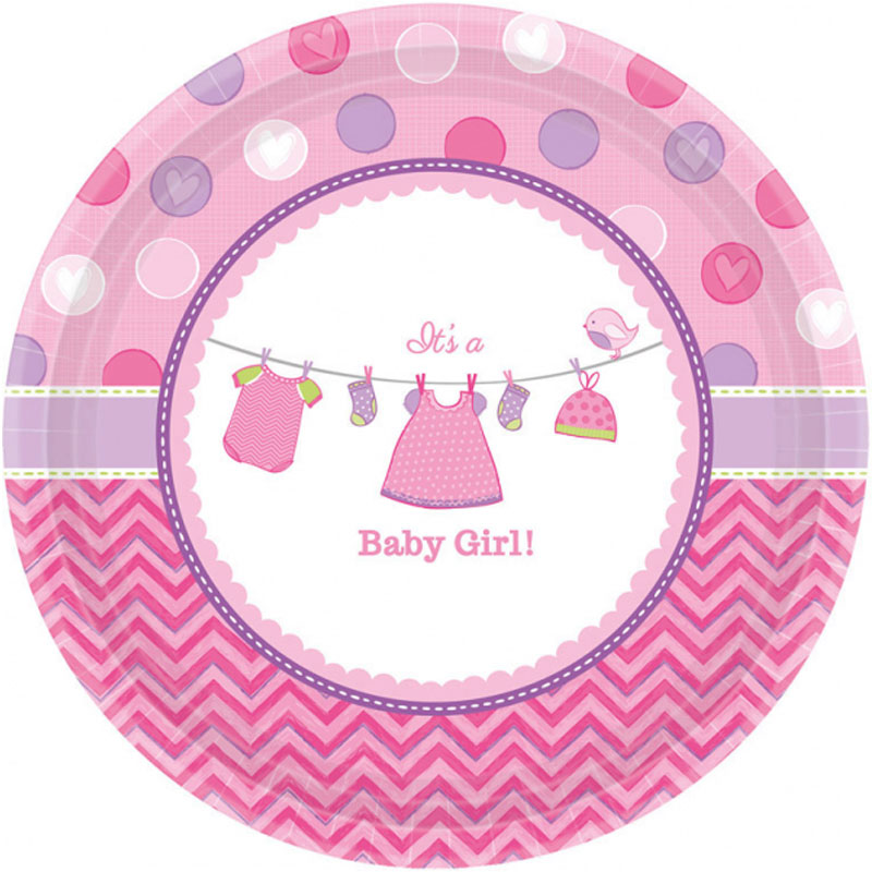 Baby Shower It's a Baby Girl Tallrikar XL