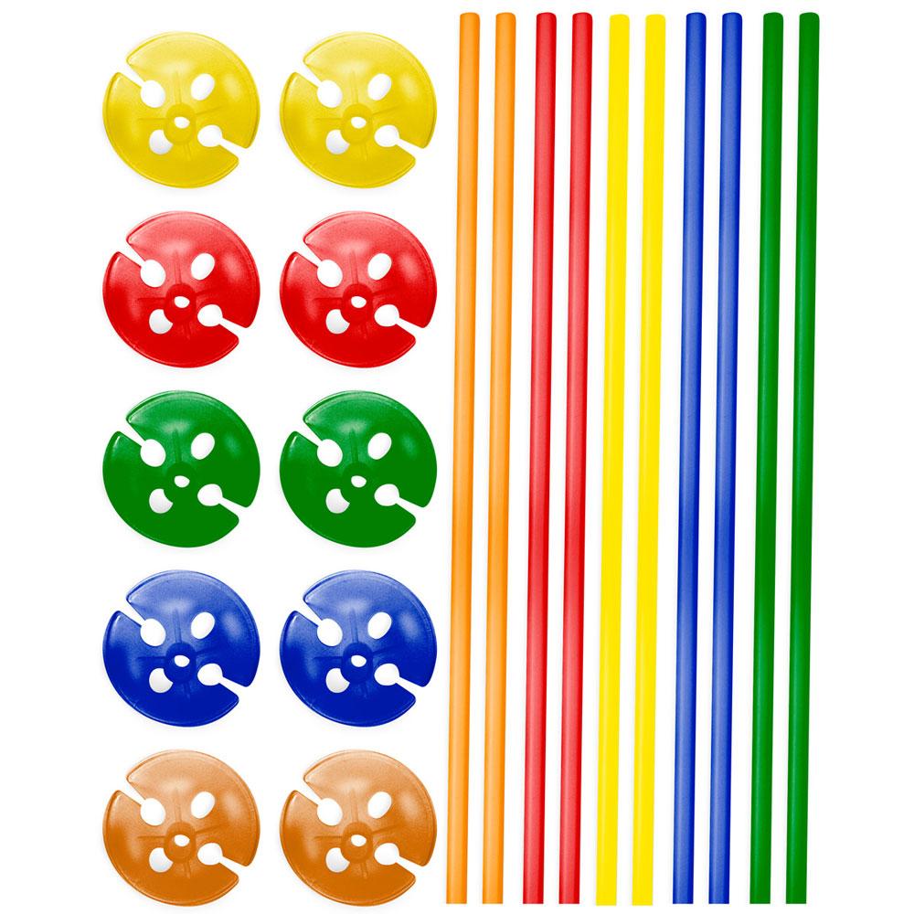 Ballongpinnar - Ballongpinnar Flerfärgade