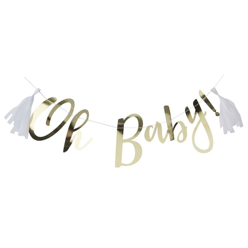Banderoll Guld Oh Baby