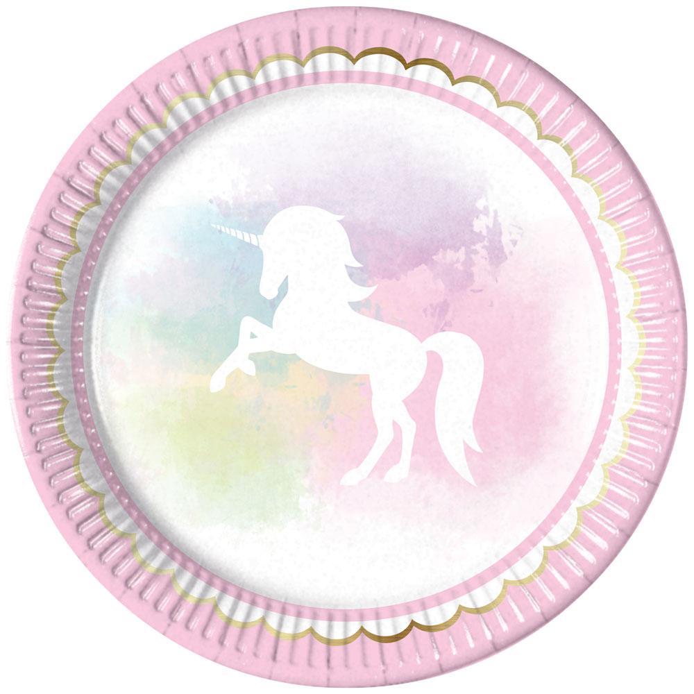 Enhörningsprodukter - Believe In Unicorns Tallrikar