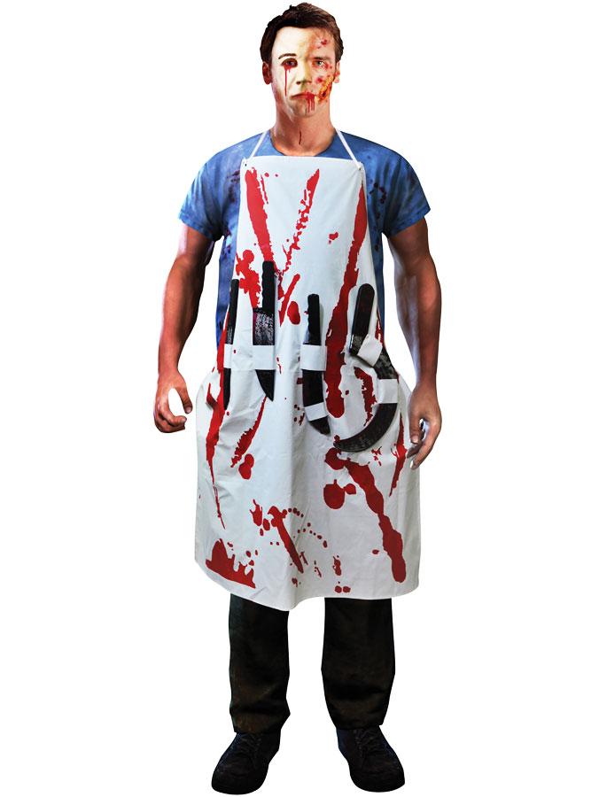 Blodigt Förkläde med Knivar