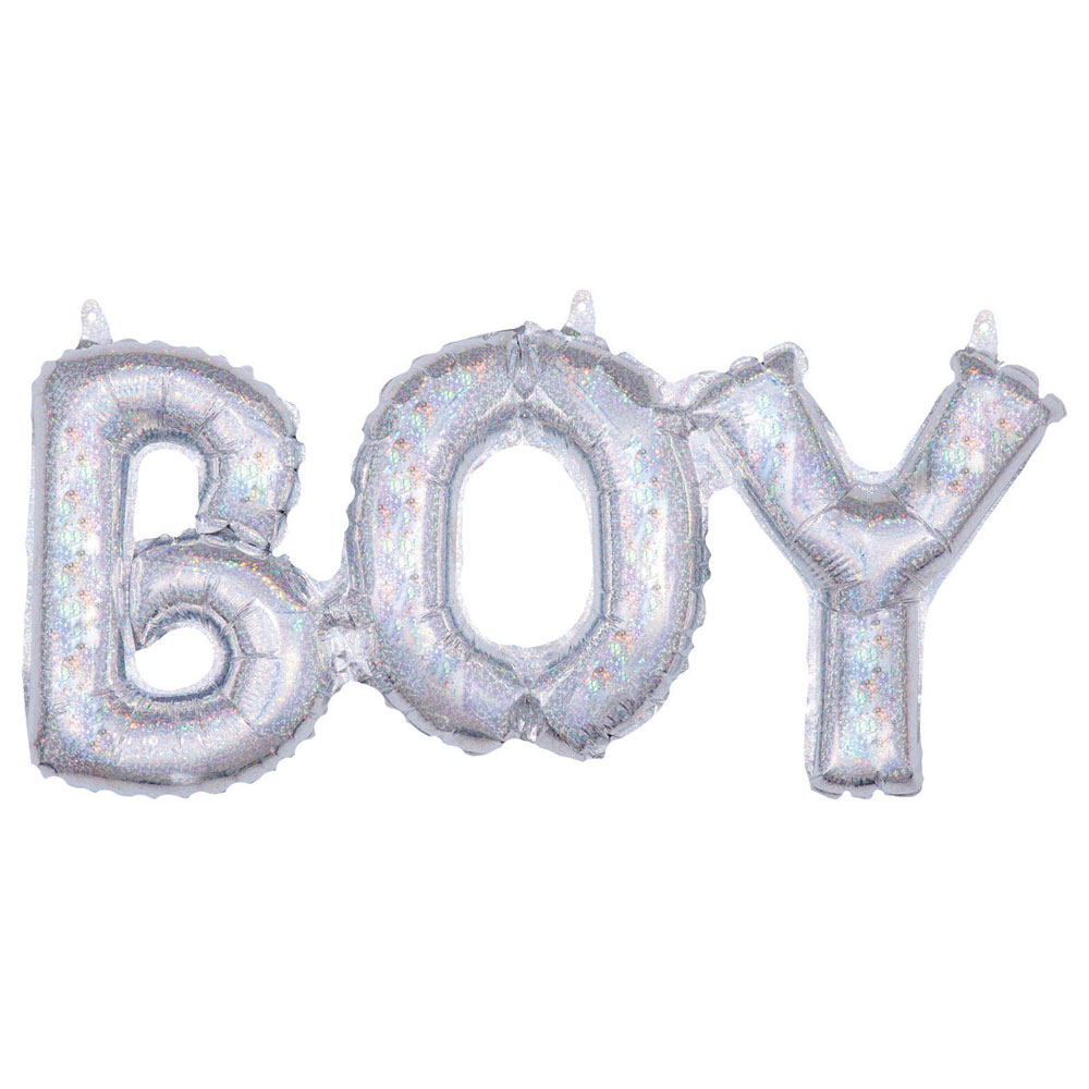 Boy Holografisk Folieballong
