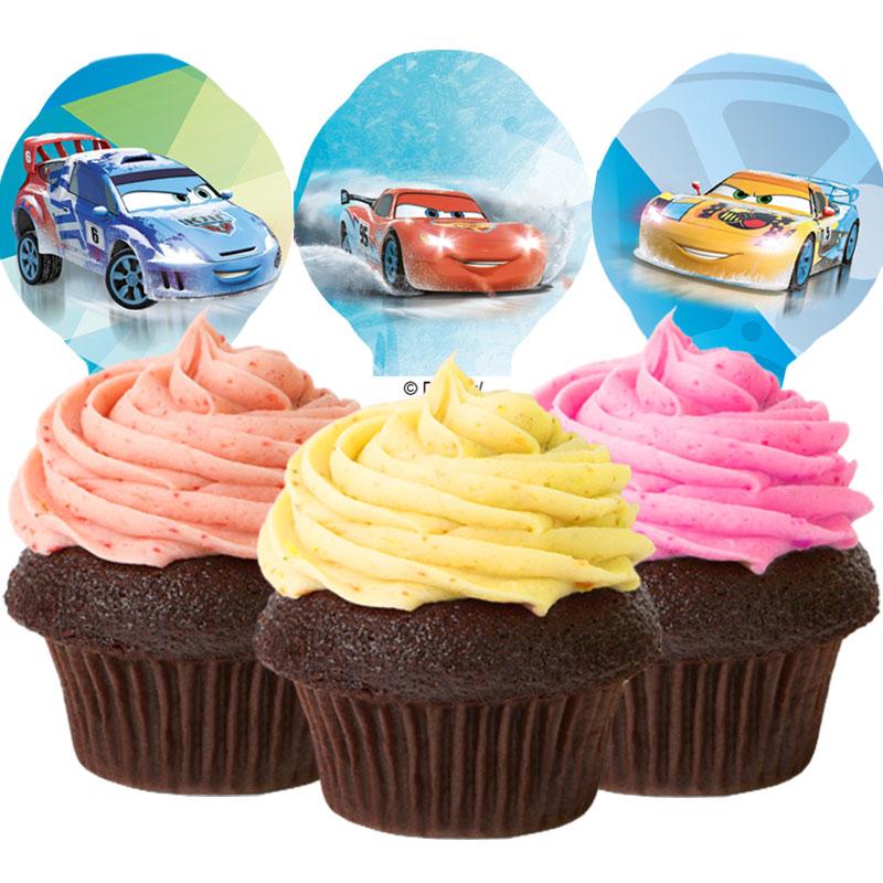 Cars Muffins- och Tårtdekorationer Ätbara
